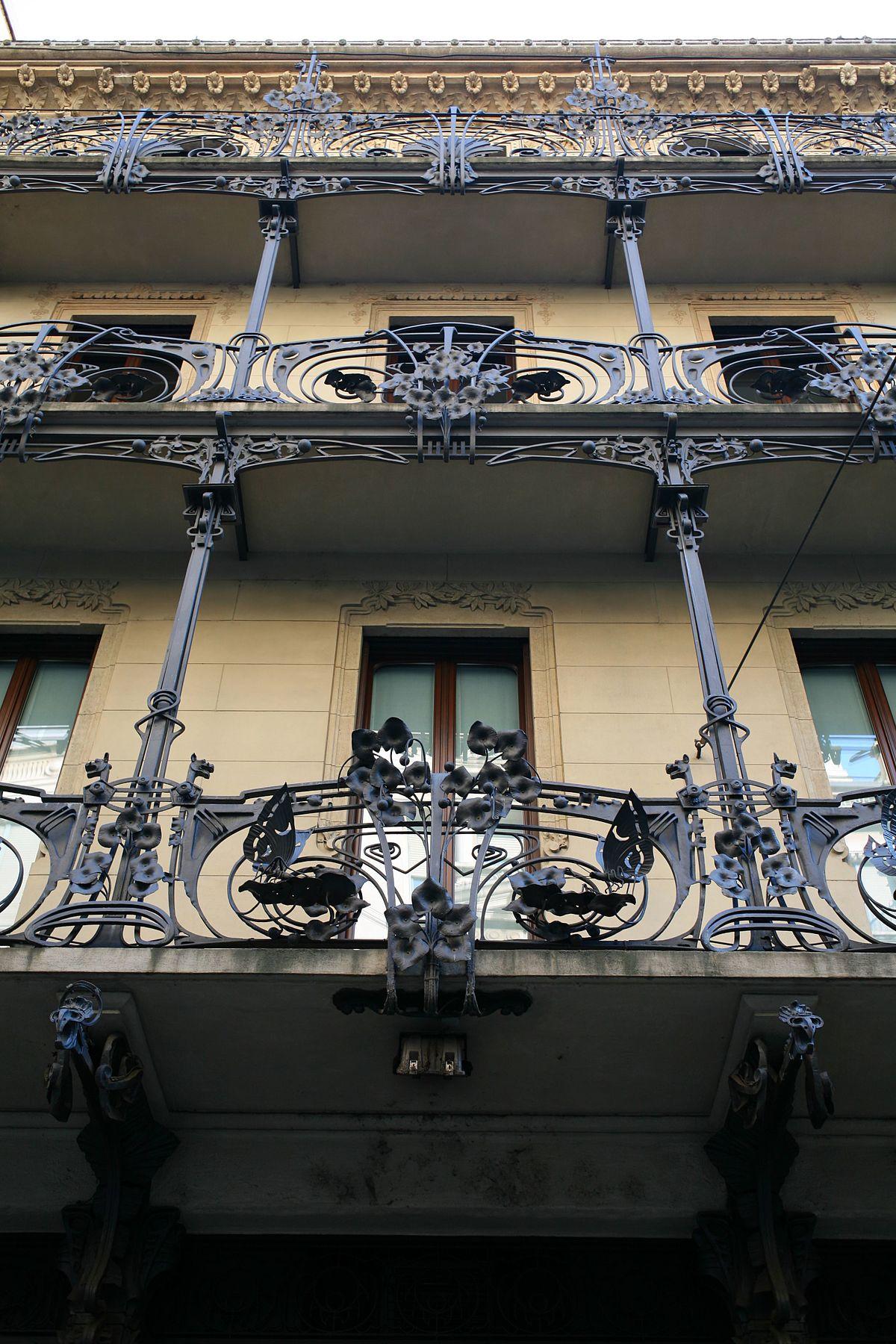 Archivo Casa Ferrario Milano Particolare Della Facciata