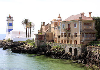 Cascais - The Farol de Santa Marta and the Casa de Santa Maria.