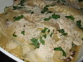 Cashew cream lasagne, March 2008.jpg