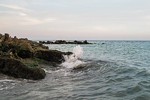 Venice, Florida - Caspersen Beach Park has hiking trails and a rocky beach