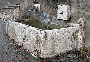 Abreuvoir - Abreuvoir fountain, Castiglione delle Stiviere, Fontana, Italy.