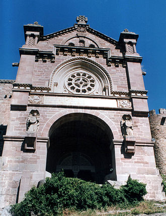 Castle of Xavier - The basilica next to the castle.