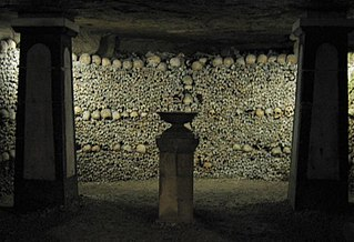 underground ossuary in Paris, France