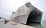 Catamaran arrives at Key West 140604-N-YB753-115.jpg