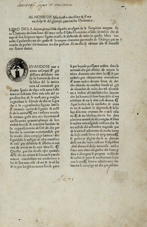 Caterina - Libro della divina dottrina, circa 1475 - 2367969