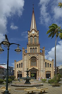 St. Louis Cathedral, Fort-de-France Church in Martinique, France