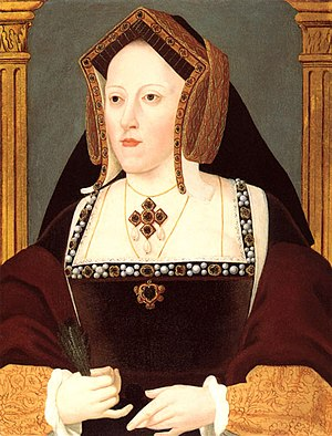 English Reformation - Catherine of Aragon, Henry VIII's first wife. Attributed to Joannes Corvus, National Portrait Gallery, London.
