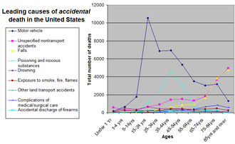 Preventable causes of death - Image: Causes of accidental death by age group