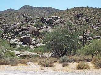 Stoneman Military Trail - The Black Mountain in Cave Creek