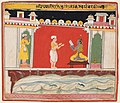 Central India, Malwa - A page from a Bhagavata Purana series- A Brahmin gives Krishna the message - 2018.133 - Cleveland Museum of Art.jpg