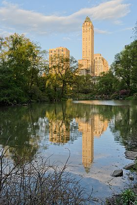 Immeubles de l'Upper East Side vus de Central Park.