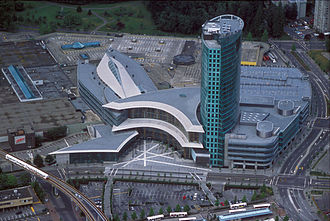 Bing Thom - Central City mixed-use development in Surrey, British Columbia, opened 2003