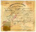 Certificate of residence for Chun Hoon (?), farmer, age 22 years, of Santa Clara, California (9411816896).jpg