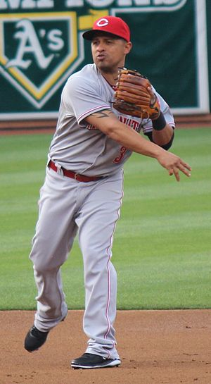 César Izturis - Izturis with the Cincinnati Reds in 2013