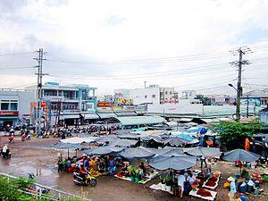 Châu Thành District, Đồng Tháp Province - Image: Chợ thị trấn Cái Tàu Hạ
