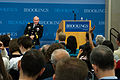 Chairman of the Joint Chiefs of Staff U.S. Army Gen. Martin E. Dempsey hosts a question and answer session after delivering remarks at the Brookings Institution in Washington, D.C., June 27, 2013 130627-D-KC128-064.jpg