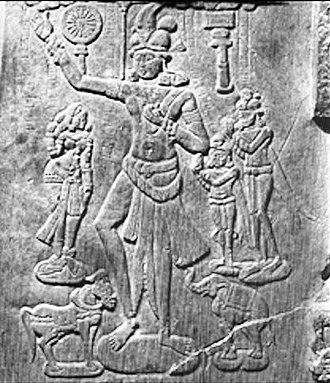 Chakravarti (Sanskrit term) - Chakravartin from Jaggayyapeta Stupa.