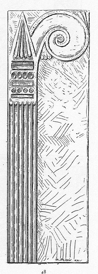 Aeolic order - Aeolic column with half-capital, Bardo National Museum, Tunis.
