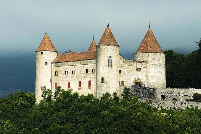 Champvent, château de Champvent (Suisse) 04.jpg