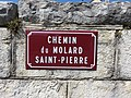 Charchilla - Chemin du Molad Saint-Pierre - plaque (juil 2018).jpg