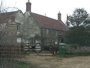 Babington, Somerset - Charity Cottage (or White Cottage) in Charity Lane