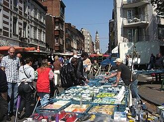 Charleroi - Orleans street Sunday market