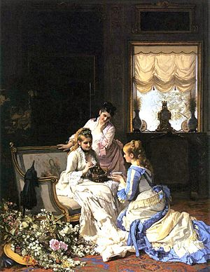 Charles Baugniet - Spring's New Arrivals