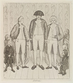Charles Byrne (giant) - Byrne in a John Kay etching (1784), alongside the Brothers Knipe and dwarves