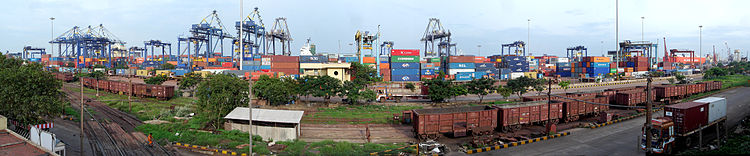 Chennai Port panorama.jpg