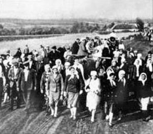 Ostarbeiter - Ukrainians from Cherkashchyna depart to Nazi Germany to serve as labor force, 1942