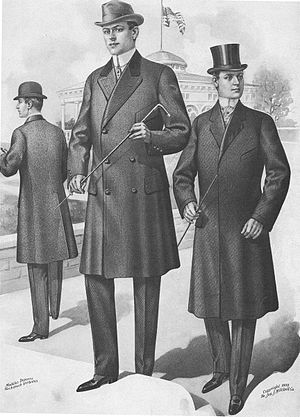 Chesterfield coat - A 1901 fashion plate of the new Chesterfield