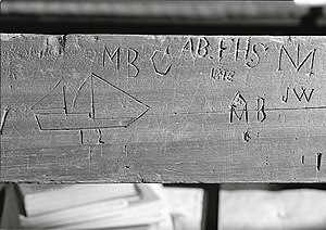 Chichester Friends Meetinghouse - Image: Chichester carvings