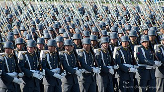 Chilean Army - Noncommissioned Officers' School during on 19 September 2014
