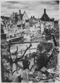 Choked with debris, a bombed water intake of the Pegnitz River no longer supplies war factories in Nuremberg, vital... - NARA - 535563.tif