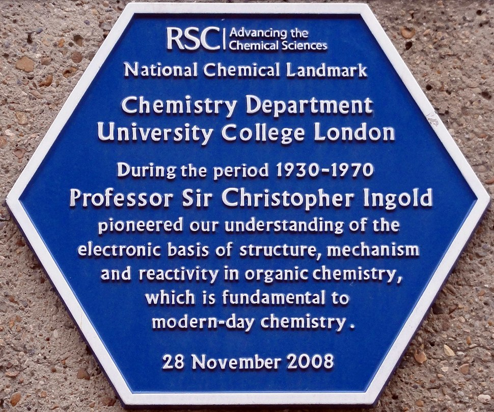 Christopher Ingold plaque