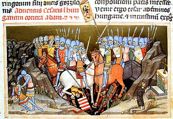 Battle of Menfö (late medieval depiction from 1358)