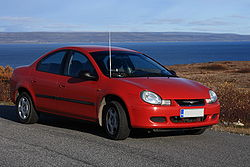 Chrysler Neon 2001 by a Norwegian fjord.JPG