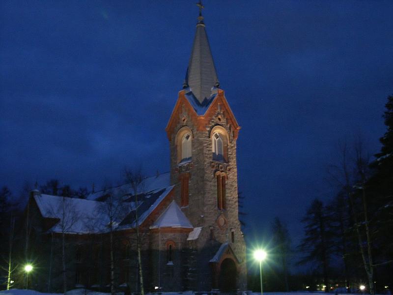 Image:Church Kitee Finland.png