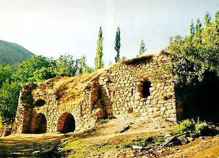 A 6th-century Nestorian church, St. John the Arab, in the Assyrian village of Geramon in southeastern Turkey. Church of Saint John the Arab.jpg