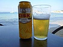 Cisk Lager and Beach.JPG
