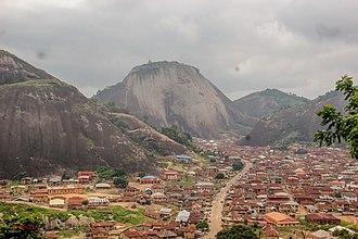 Idanre - View of Idanre Town from Idanre Hill