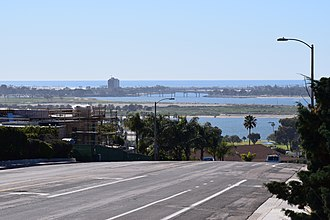 Clairemont, San Diego - View looking west from Clairemont Drive