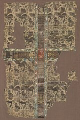 Fragmentary Chasuble with Woven Orphrey Band