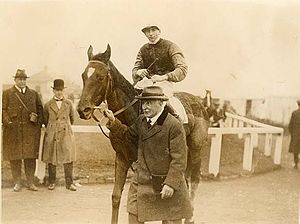 Horseracing in Ireland - Winning Irish horse Clonespoe at the Curragh in 1924, ridden by J. Moylan