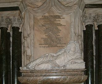 Grinling Gibbons - Monument for Admiral Shovell in Westminster Abbey.