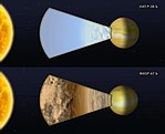 Cloudy versus clear atmospheres on two exoplanets.jpg