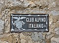 Club Alpino Italiano sign at the Langkofelhütte.jpg