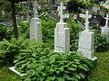 Cmentarz prawosławny w Wilnie groby mniszek.JPG