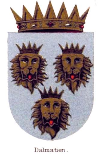 Eastern crown - Image: Co A of Dalmatia (Habsburg Monarchy)