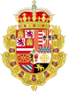 Coat of Arms of Archduke Charles of Austria Claim to the Spanish throne (SpanishTerritories of the Crown of Aragon).svg